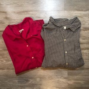 Lot of 2 Old Navy L/S Button Downs Plus Size XXL